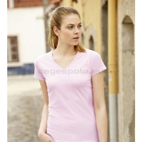 Fruit of the Loom Lady-Fit Valueweight V-Neck T