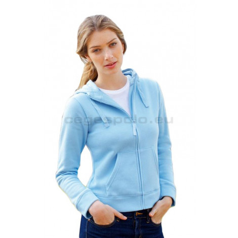 Fruit of the Loom Lady-Fit Hooded Sweat Jacket női zipzáras kapucnis pulóver