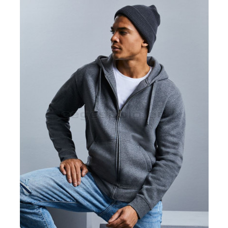 RUSSELL    Men's Authentic Melange Hooded Sweat Jacket pulóver