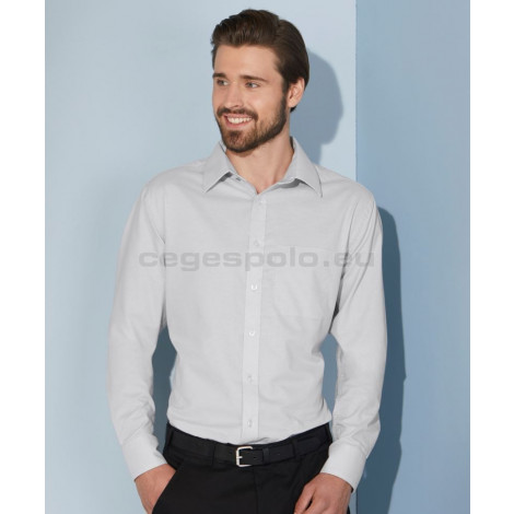 James & Nicholson | JN 686 Férfi Oxford Shirt LSL