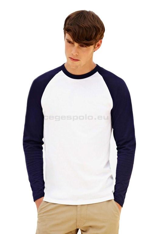 90e5024feb gépi hímzés, céglogó hímzés Környakú férfi póló Baseball T hosszú ujjú  #61-028