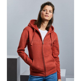 RUSSELL |  Ladies' Authentic Melange Hooded Sweat Jacket pulóver