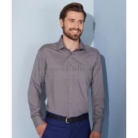 James & Nicholson | JN 678 Férfi Popline Shirt LSL