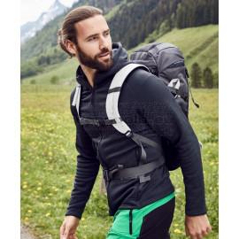 JAMES & NICHOLSON | Men's Hooded Stretch Fleece Jacket Pulóver