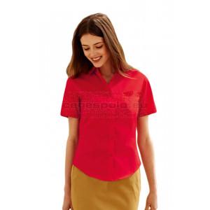 Női rövid újjú poplin ing