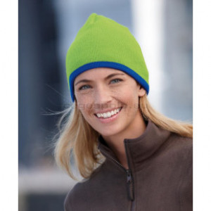MYRTLE BEACH | Knitted Beanie with contrasting Stripes téli sapka