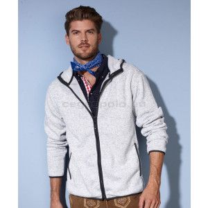 JAMES & NICHOLSON | Men's Knitted Fleece Hooded Jacket Pulóver