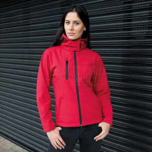 RESULT | Ladies 3-Layer Softshell Hooded Jacket Kabát