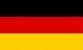 Hímzett német zászló